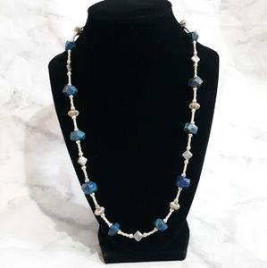 Lapis beaded necklace